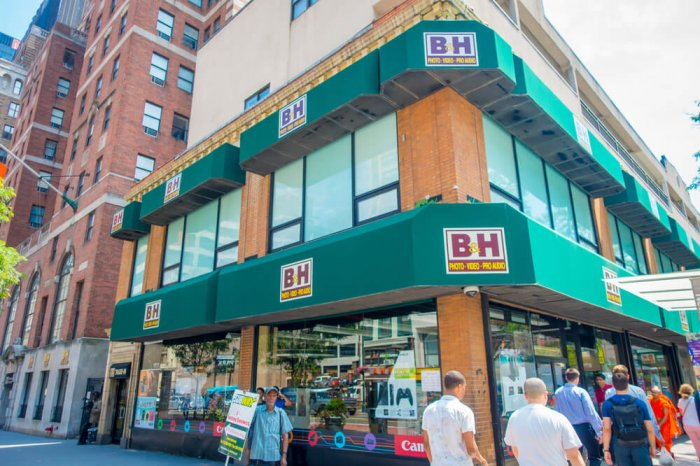 A B&H store in the city