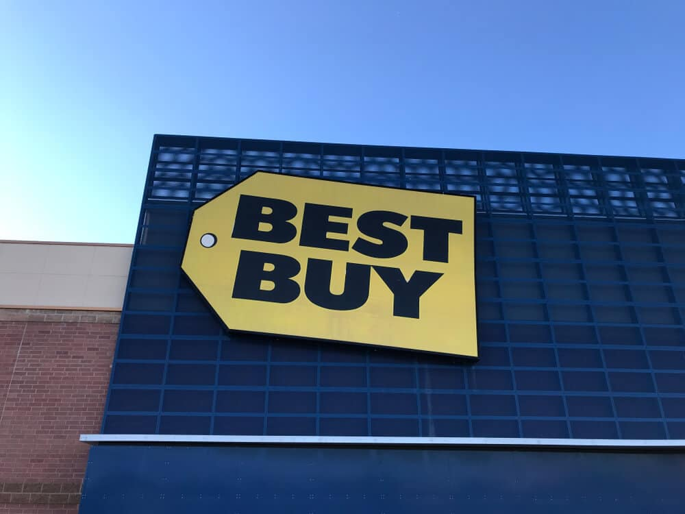 Best Buy sign on building