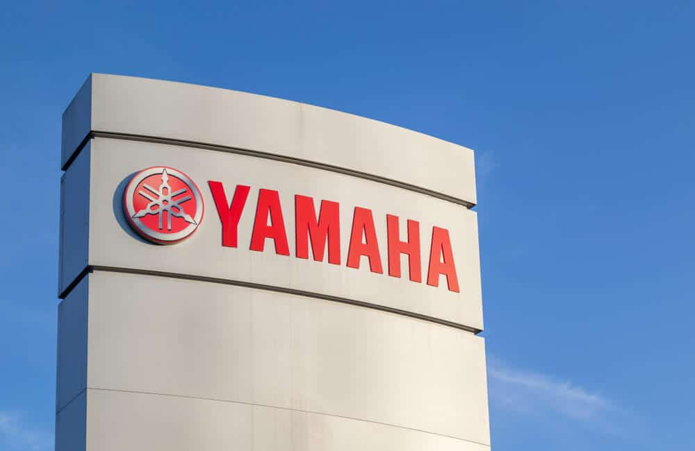 Yamaha logo sign at a Yamaha office