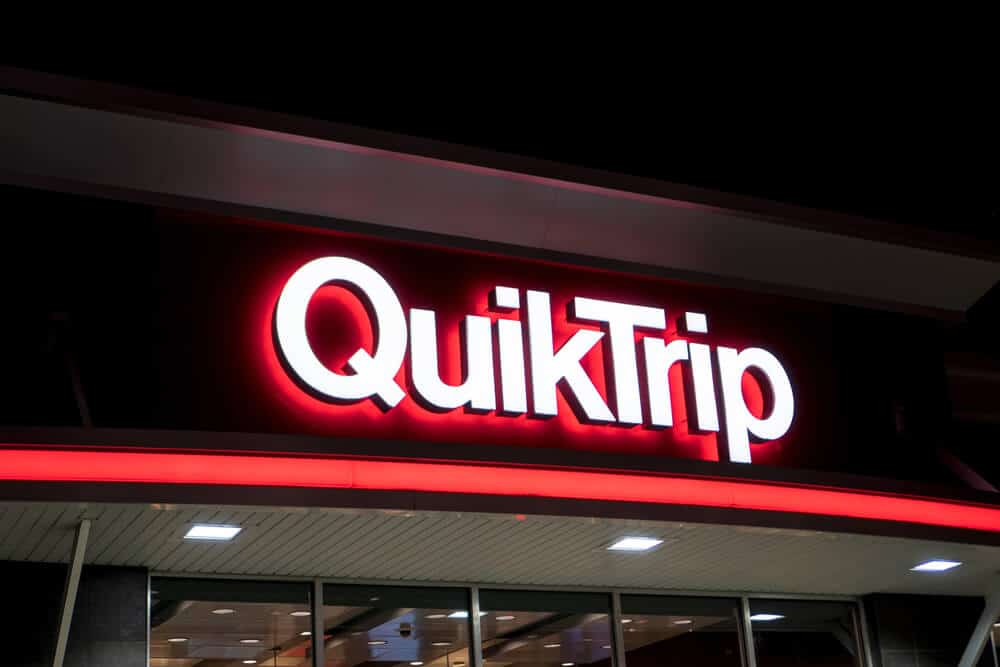 Lit sign on the outside of a QuikTrip store