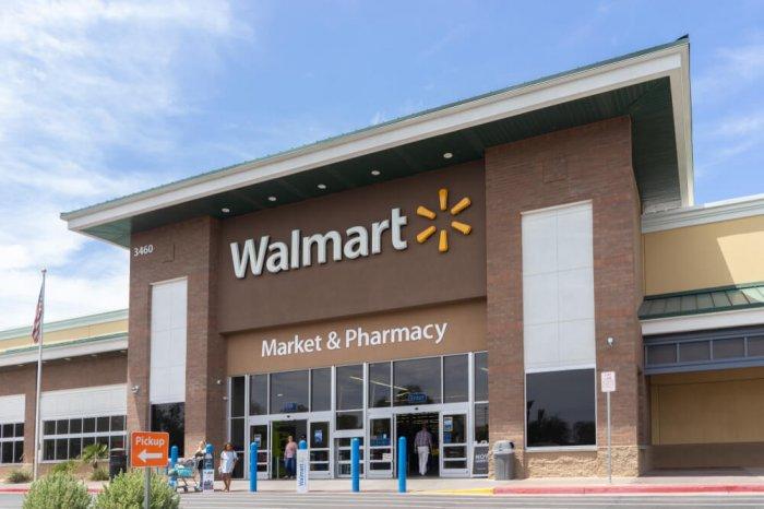 Exterior of a Walmart store