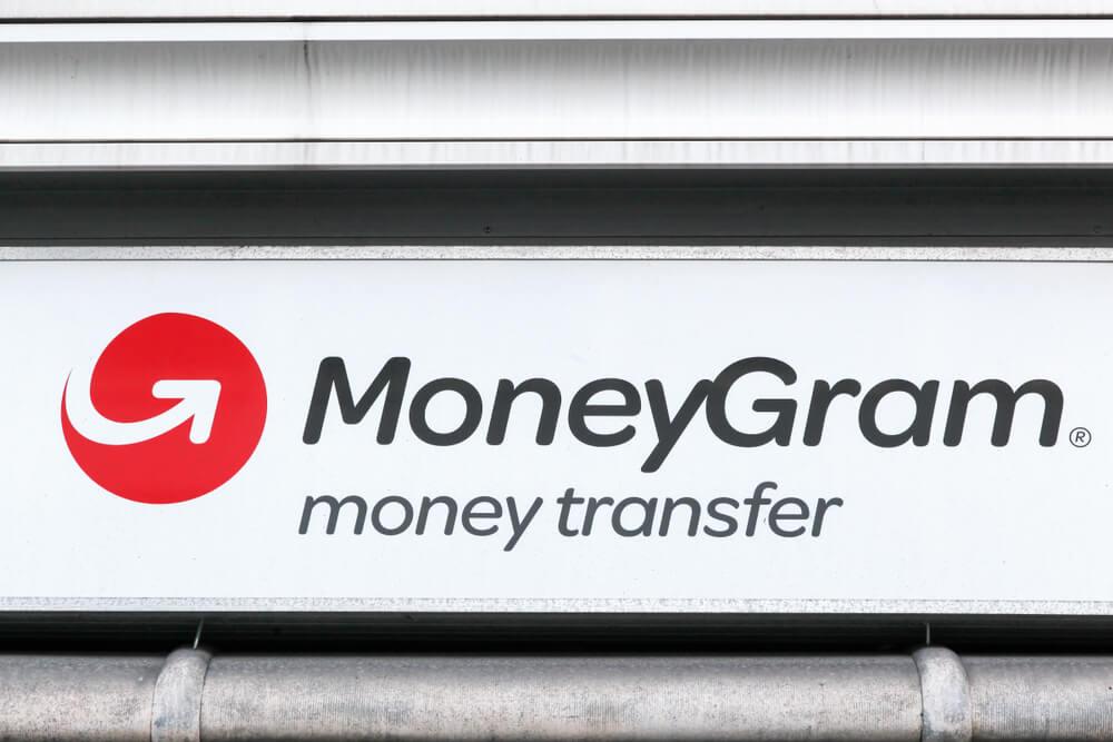 Sign outside of a MoneyGram location