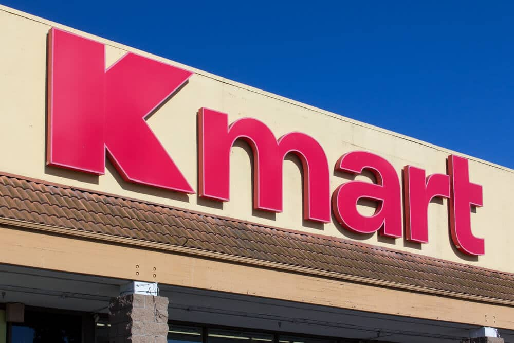 Kmart sign on storefront