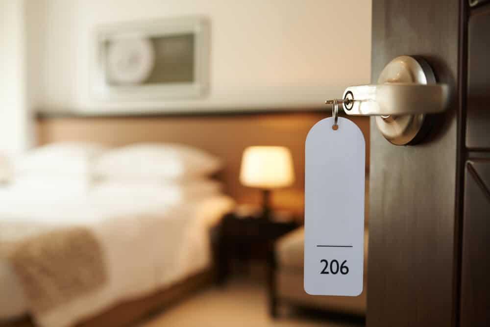 Hotel room opened