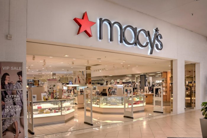 Macy's storefront in a mall