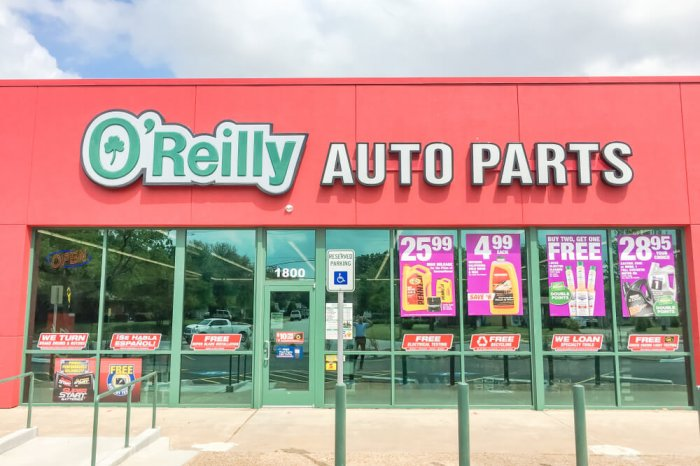 Exterior of an O'Reilly Auto Parts