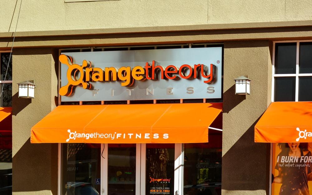 Entrance to an Orangetheory gym