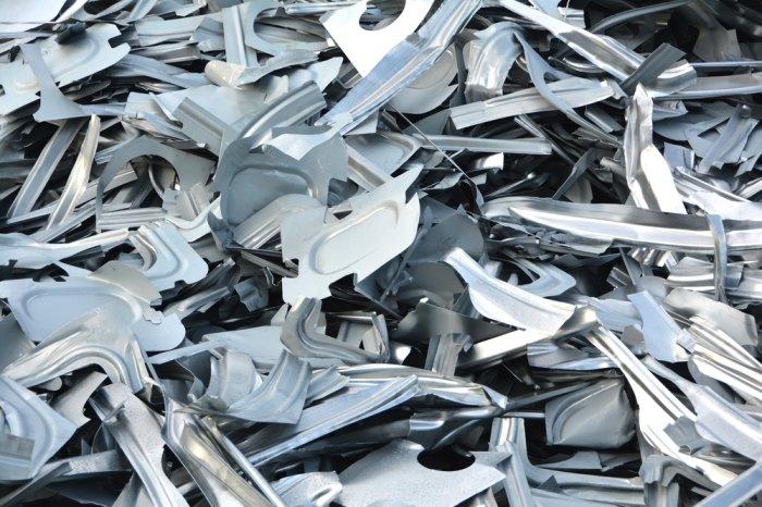 Pile of scrap metal at a scrap yard