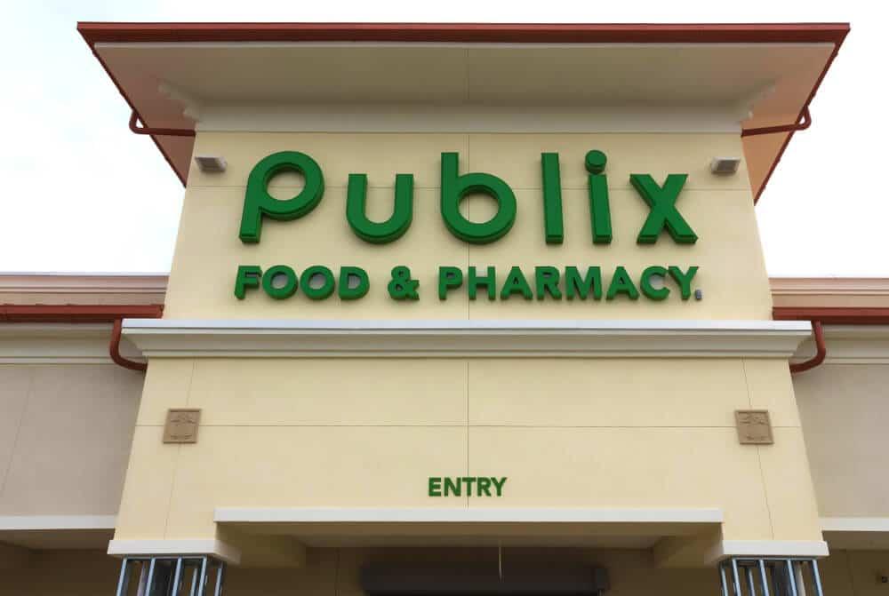 Publix sign on a building