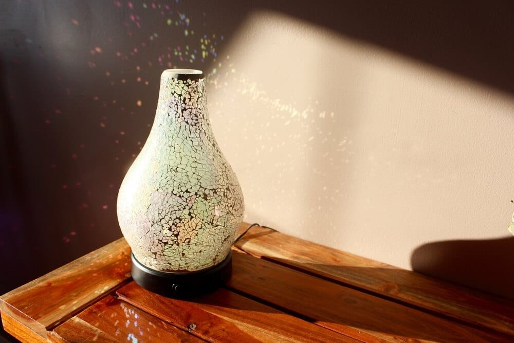 Scentsy diffuser on a wooden table