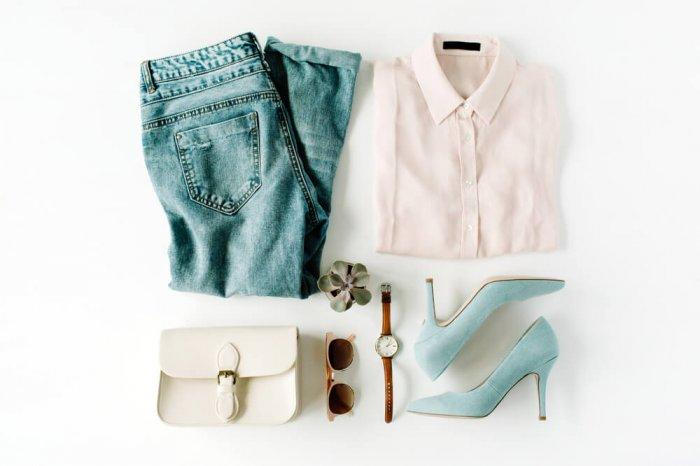 Trendy clothing flat lay