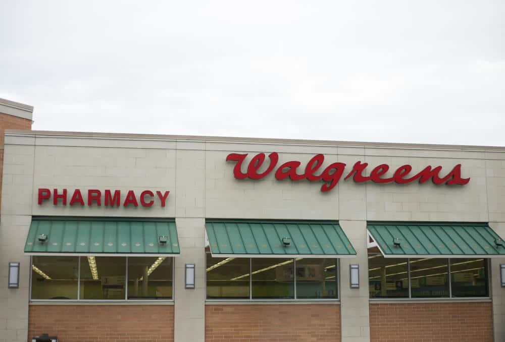 Exterior of a Walgreens store