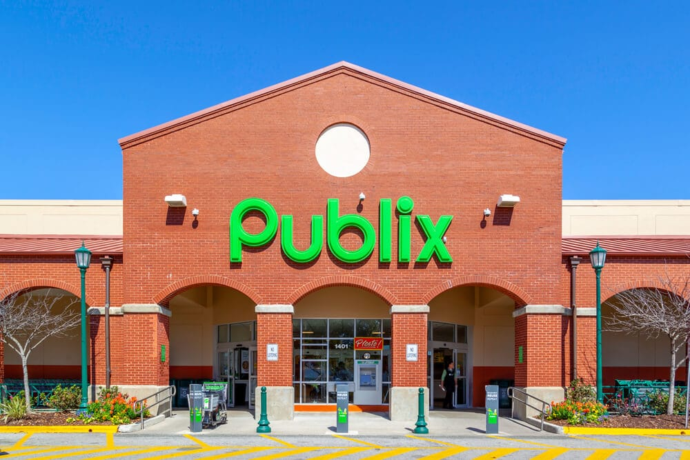 Front entrance of a Publix store