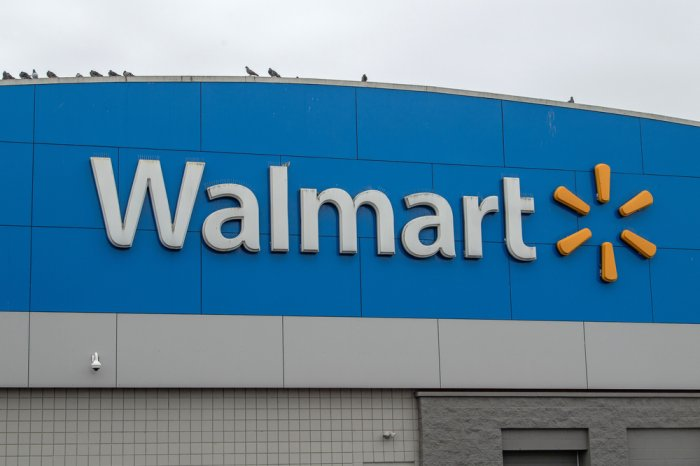 Walmart sign on the exterior of a store