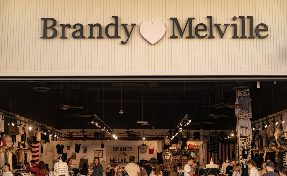 Brandy Melville storefront.