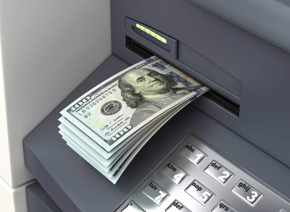 Maximum amount of cash coming out of an ATM.