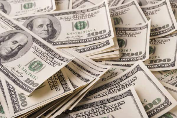 a pile of 100-dollar bills
